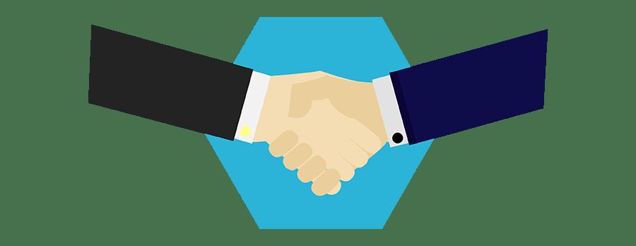 Partner us handshake clipart