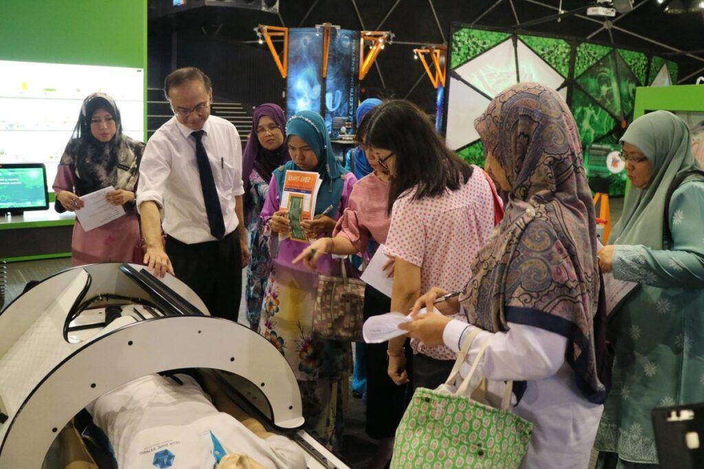 A group of teachers attending a teacher training course in Tech Dome Penang