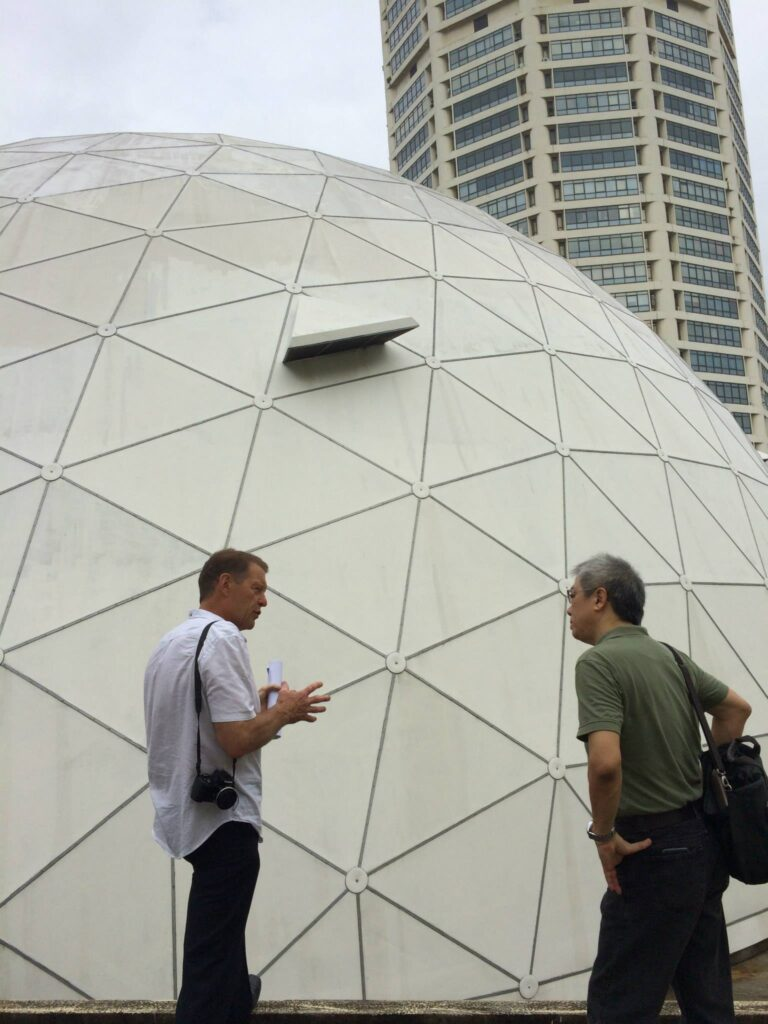 Meetings at KOMTAR, Geodesic Dome for the development of Tech Dome Penang